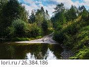 Купить «Брод через речку», фото № 26384186, снято 8 сентября 2015 г. (c) Игорь Камаев / Фотобанк Лори