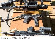 Купить «Российское автоматическое огнестрельное оружие», фото № 26387018, снято 27 мая 2017 г. (c) FotograFF / Фотобанк Лори