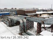 Heat pipelines in St. Petersburg, Russia, фото № 26389242, снято 16 декабря 2016 г. (c) Лиляна Виноградова / Фотобанк Лори