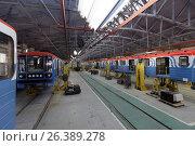 Oktyabrsky electric railway car repair plant, фото № 26389278, снято 25 августа 2016 г. (c) Лиляна Виноградова / Фотобанк Лори
