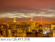 Купить «New York - DECEMBER 20, 2013: View of Lower Manhattan on Decembe», фото № 26411318, снято 20 декабря 2013 г. (c) Elnur / Фотобанк Лори