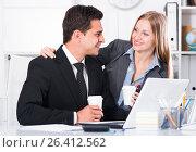 Купить «Sexual harassment between colleagues», фото № 26412562, снято 20 апреля 2017 г. (c) Яков Филимонов / Фотобанк Лори