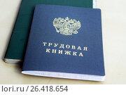 Купить «Трудовая книжка гражданина России», фото № 26418654, снято 12 сентября 2014 г. (c) Сергеев Валерий / Фотобанк Лори
