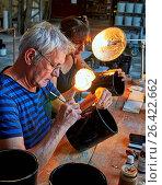 Купить «Europe, France, Occitanie, Lot, Puy l'Evêque city, Virebent Porcelain Manufactory», фото № 26422662, снято 23 июня 2016 г. (c) age Fotostock / Фотобанк Лори
