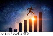 Купить «Going up to success», фото № 26448086, снято 19 марта 2014 г. (c) Sergey Nivens / Фотобанк Лори