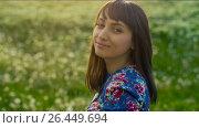 Купить «Natural Beauty Woman», видеоролик № 26449694, снято 24 мая 2017 г. (c) Илья Шаматура / Фотобанк Лори