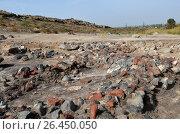 Купить «Archaeological excavations in Metsamor, Armenia», фото № 26450050, снято 13 октября 2016 г. (c) Анна Мартынова / Фотобанк Лори