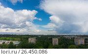 Купить «Гроза приближается. Вид на Москву», фото № 26450086, снято 2 июня 2017 г. (c) Николай Алмаев / Фотобанк Лори