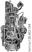 Купить «Разрез дизельного двигателя», иллюстрация № 26453194 (c) Макаров Алексей / Фотобанк Лори