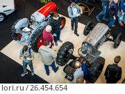 "Купить «STUTTGART, GERMANY - MARCH 04, 2017: Tractors Lamborghini. View from above. Europe's greatest classic car exhibition ""RETRO CLASSICS""», фото № 26454654, снято 4 марта 2017 г. (c) Sergey Kohl / Фотобанк Лори"