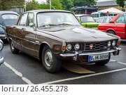 "BERLIN - MAY 13, 2017: Executive car Rover P6 3500, 1979. Exhibition ""Oldtimertage Berlin-Brandenburg"". Редакционное фото, фотограф Sergey Kohl / Фотобанк Лори"