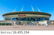 """Купить «""""Санкт-Петербург Арена"""", (бывший """"Зенит-Арена"""") на Крестовском острове. Санкт-Петербург», фото № 26455334, снято 4 июня 2017 г. (c) Сергей Афанасьев / Фотобанк Лори"""