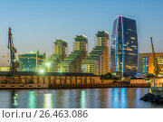 Купить «Baku - JULY 10, 2015: Port Baku on July 10 in Baku, Azerbaijan.», фото № 26463086, снято 10 июля 2015 г. (c) Elnur / Фотобанк Лори