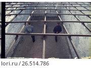 Купить «Тюрьма. Прогулка заключенных», фото № 26514786, снято 23 октября 2018 г. (c) Борис Кавашкин / Фотобанк Лори