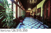 Palace of Capitania General Barcelona - rich rooms with expensive furniture (2017 год). Редакционное видео, видеограф Яков Филимонов / Фотобанк Лори