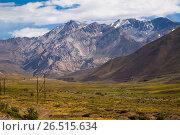 Купить «View of Andes mountains, Valle Hermoso», фото № 26515634, снято 9 февраля 2017 г. (c) Яков Филимонов / Фотобанк Лори
