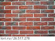 Купить «Кирпичная стена», фото № 26517278, снято 6 июня 2013 г. (c) Алёшина Оксана / Фотобанк Лори