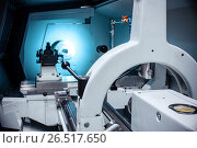 Купить «Modern lathe metalworking CNC machine.», фото № 26517650, снято 16 мая 2017 г. (c) Андрей Радченко / Фотобанк Лори