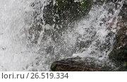 Купить «Spring waterfall background», видеоролик № 26519334, снято 22 мая 2017 г. (c) Юрий Брыкайло / Фотобанк Лори