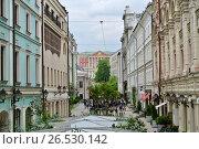 Купить «Москва, Столешников переулок», фото № 26530142, снято 11 июня 2017 г. (c) Анна Воронова / Фотобанк Лори