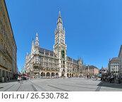 Купить «Новая ратуша на площади Мариенплац в Мюнхене, Германия», фото № 26530782, снято 29 мая 2017 г. (c) Михаил Марковский / Фотобанк Лори