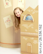 Купить «Beautiful little girl 5-6 years», фото № 26536162, снято 27 апреля 2017 г. (c) Сергей Колесников / Фотобанк Лори