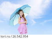 Купить «Beautiful little girl 5-6 years», фото № 26542954, снято 12 января 2014 г. (c) Сергей Колесников / Фотобанк Лори