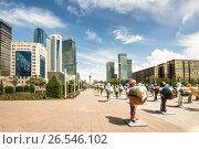 Купить «Казахстан. Астана.  ЭКСПО - 2017 в центре города», фото № 26546102, снято 10 июня 2017 г. (c) Сергеев Валерий / Фотобанк Лори