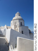 Церковь Агиос Минас (Agios Minas) в городе Фира, Санторини, Греция, фото № 26546462, снято 10 июня 2017 г. (c) Наталья Волкова / Фотобанк Лори