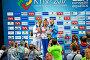 Чемпионат Европы по прыжкам в воду (12-18 июня 2017). Церемония награждения (женщины). Киев, Украина, фото № 26550094, снято 17 июня 2017 г. (c) FMRU / Фотобанк Лори
