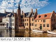 Купить «Город Брюгге, Бельгия», фото № 26551278, снято 10 июня 2017 г. (c) Ирина Яровая / Фотобанк Лори