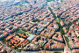 Aerial view of residential district. Barcelona, фото № 26552282, снято 1 августа 2014 г. (c) Яков Филимонов / Фотобанк Лори