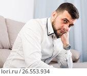 Купить «Adult male is having problems», фото № 26553934, снято 5 марта 2017 г. (c) Яков Филимонов / Фотобанк Лори