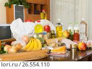 Купить «Still life with foodstuffs of supermarket», фото № 26554110, снято 20 апреля 2018 г. (c) Яков Филимонов / Фотобанк Лори