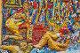 Фрагмент мозаичного дворика Малой Академии искусств. Санкт-Петербург, фото № 26566258, снято 21 июля 2016 г. (c) Сергей Афанасьев / Фотобанк Лори