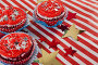 Decorated cupcakes with 4th july theme, фото № 26569062, снято 10 февраля 2017 г. (c) Wavebreak Media / Фотобанк Лори