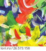 Купить «Абстрактный рисунок, гуашь», иллюстрация № 26573158 (c) Виктор Топорков / Фотобанк Лори