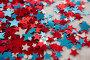Star shape decoration with 4th july theme, фото № 26577098, снято 10 февраля 2017 г. (c) Wavebreak Media / Фотобанк Лори