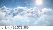 Купить «Composite image of blue matrix and codes», иллюстрация № 26578386 (c) Wavebreak Media / Фотобанк Лори