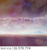 Купить «Composite image of scenic view of clouds at night», фото № 26578774, снято 18 февраля 2018 г. (c) Wavebreak Media / Фотобанк Лори