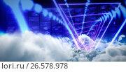 Купить «Composite image of composite image of triangle design with glowing light», фото № 26578978, снято 14 декабря 2018 г. (c) Wavebreak Media / Фотобанк Лори