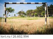 Abandoned soccer field. Стоковое фото, фотограф Gennadiy Iotkovskiy / Фотобанк Лори