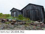 White sea, old slip dock, Chupa Karelia, white polar night, фото № 26604362, снято 19 июня 2015 г. (c) Сурикова Ирина / Фотобанк Лори