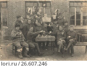 1 января 1946 года. Порт-Артур. Советские военнослужащие встречают новый год. Стоковое фото, фотограф Retro / Фотобанк Лори