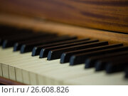 Купить «Close up of piano keys», фото № 26608826, снято 11 марта 2017 г. (c) Wavebreak Media / Фотобанк Лори
