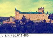 Купить «November view of Alcazar of Segovia», фото № 26611486, снято 16 ноября 2014 г. (c) Яков Филимонов / Фотобанк Лори