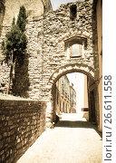 Купить «antique street with arch», фото № 26611558, снято 2 июля 2013 г. (c) Яков Филимонов / Фотобанк Лори