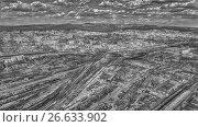 Город Чита, HDR черно-белый, фото № 26633902, снято 7 мая 2017 г. (c) Геннадий Соловьев / Фотобанк Лори