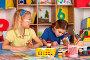 Small students children painting in art school class., фото № 26652438, снято 25 марта 2017 г. (c) Gennadiy Poznyakov / Фотобанк Лори