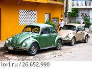 Купить «Volkswagen Beetle», фото № 26652990, снято 30 мая 2017 г. (c) Art Konovalov / Фотобанк Лори